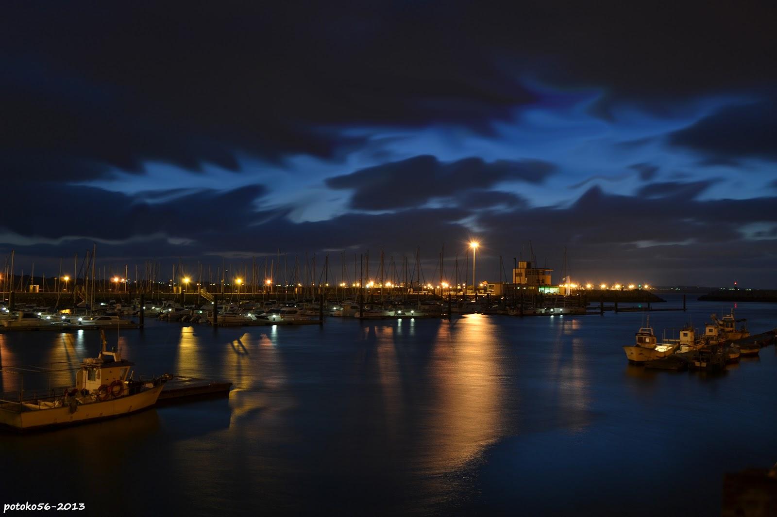 vista del Muelle de Rota al amanecer