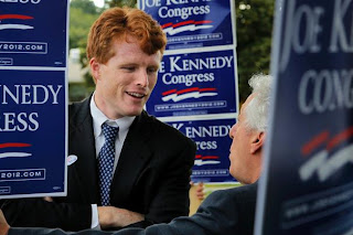 Joseph P Kennedy III on the campaign trail