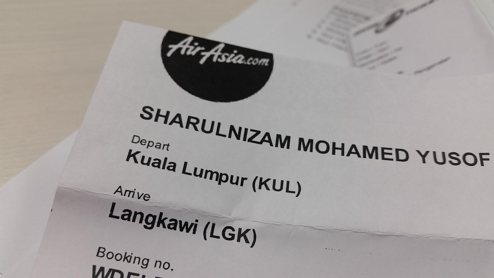 Tiket AirAsia ke Langkawi
