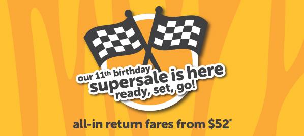 虎航 Tigerair 11th【生日優惠】,香港飛新加坡$361、峇里$1,127、馬爾代夫$1,382,即時開賣,只限6日。