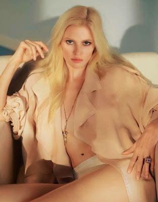 Lara Stone bare nipless Marie Claire magazine France May 2015 photoshoot