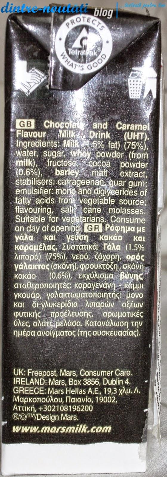 milk shake drink flavour lapte cu ciocolata mars