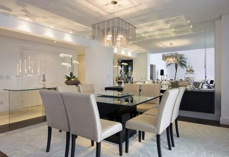 Sala De Jantar Retangular ~ Salas de jantar com 8 e 10 cadeiras – veja mesas quadradas