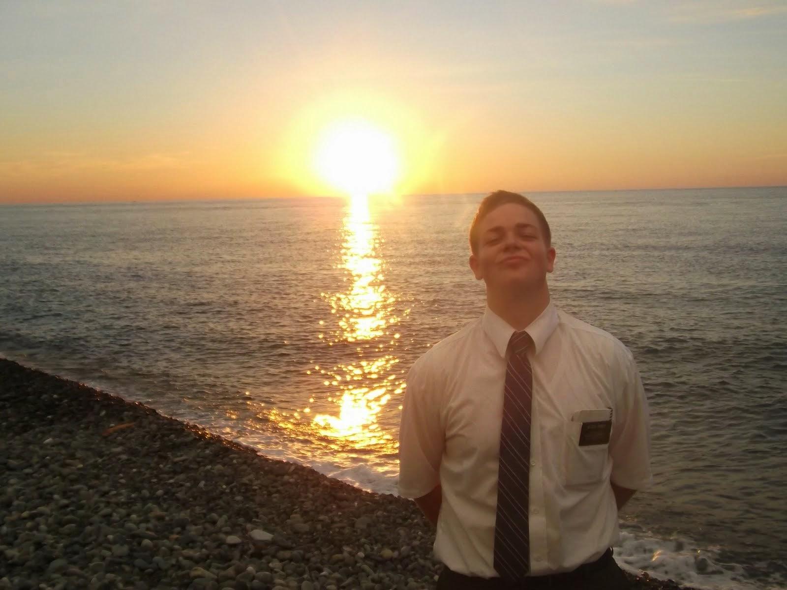 mac at sunset