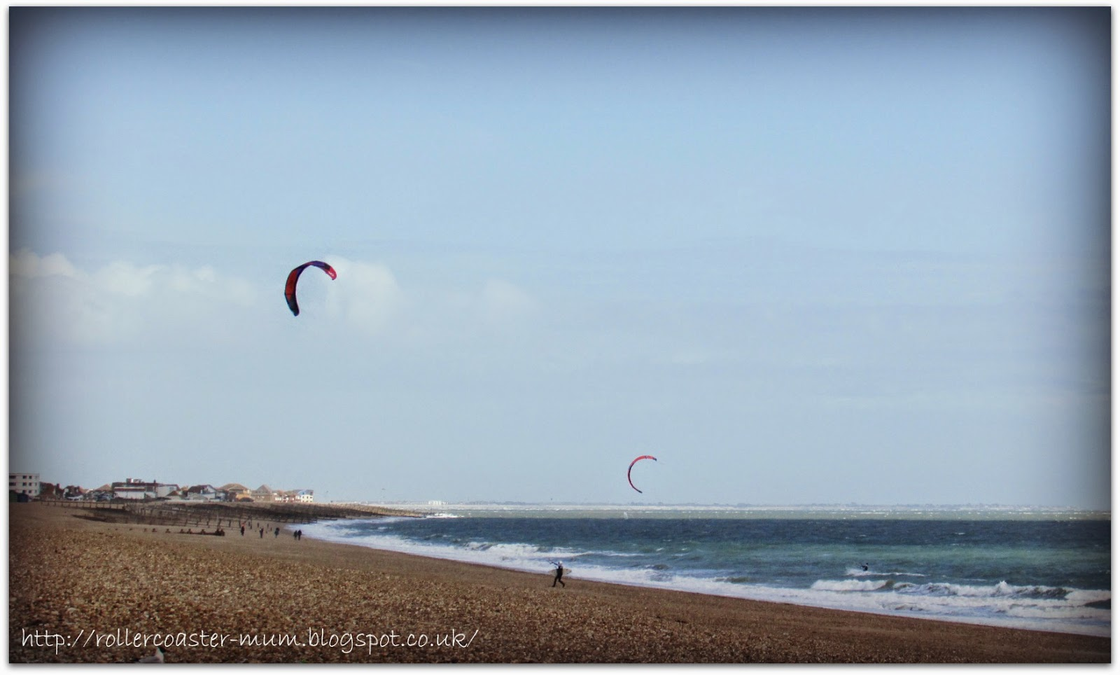 watching the Kite Surfers, Hayling Island