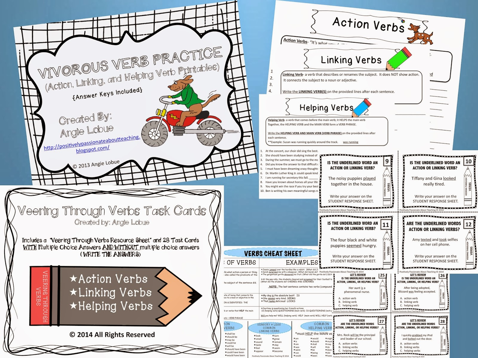Verb Bundle (Task Cards and Practice)