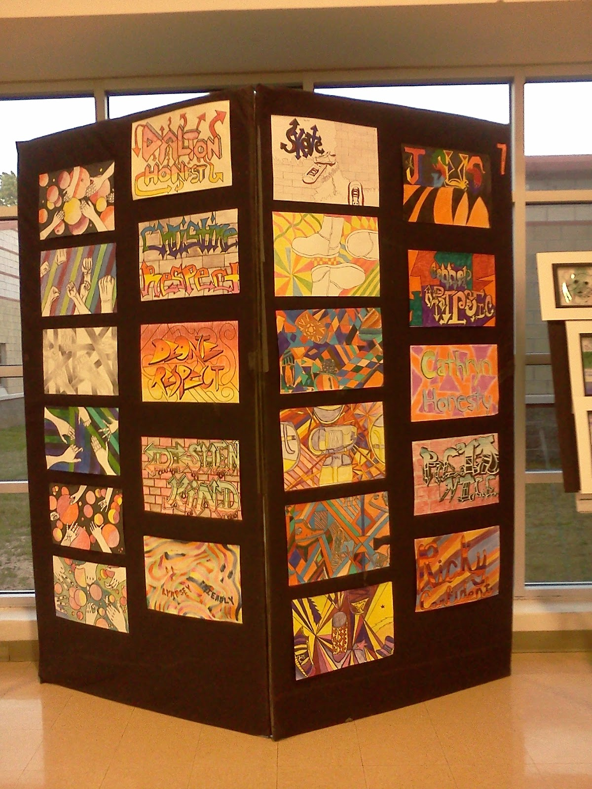 Ideas For Display Boards : Less talk more art a middle school ed show