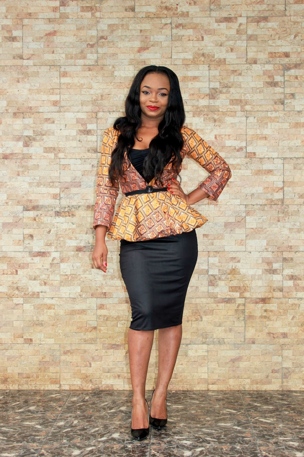 African Prints = Blazer + Pencil skirt