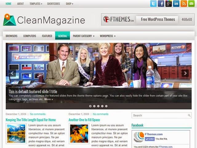CleanMagazine - Free Wordpress Theme