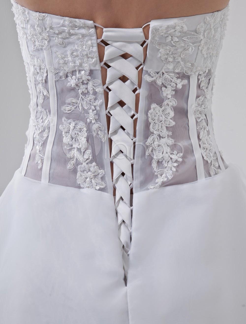 Sash Satin Organdie Wedding Dress