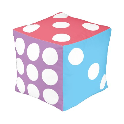 A Big Colorful Dice | Fun Cube Pouf