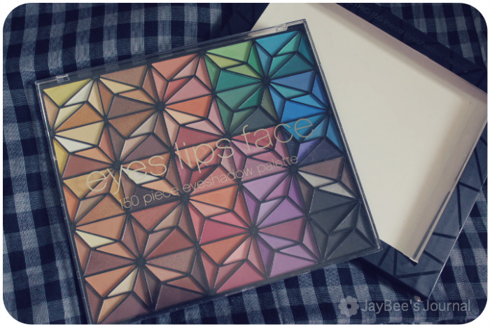E.L.F 150 Piece Geometric Eye shadow Palette review swatches pakistan beauty blog