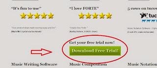 Imagem do Site Editor de partitura Forte 6 premium