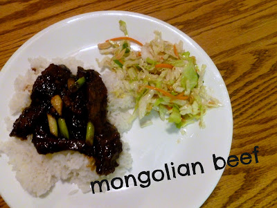 Mongolian Beef and Asian Cabbage Salad
