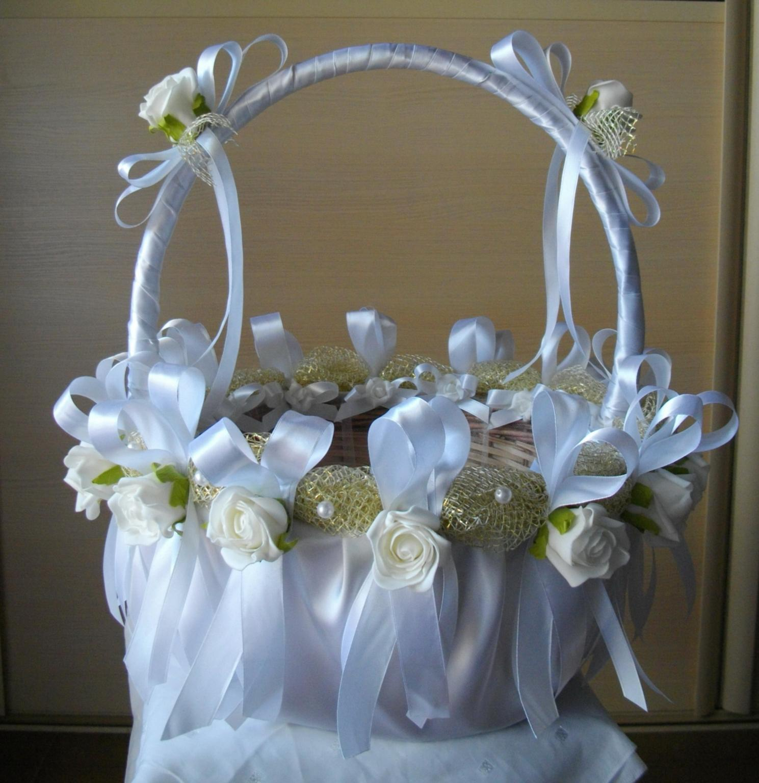 Оформление корзин на свадьбу своими руками фото