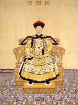 Qianlong Emperor 清_郎世宁绘《清高宗乾隆帝朝服像》