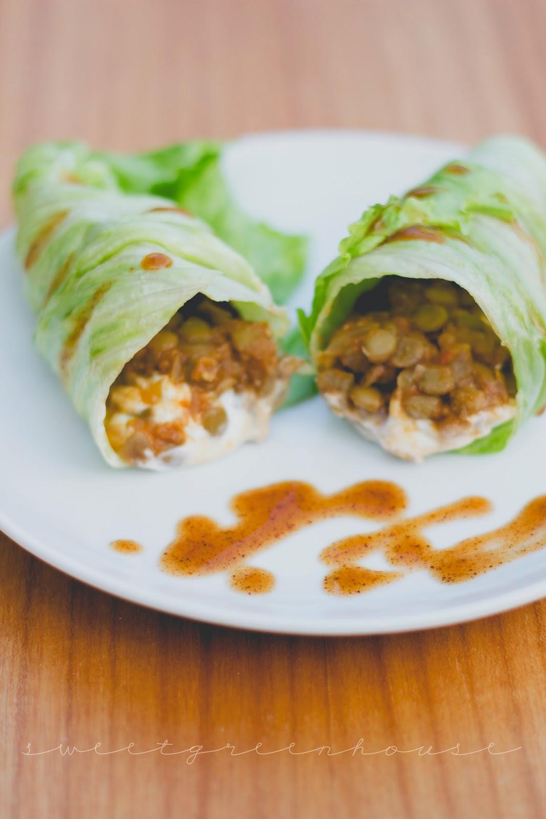 gluten free vegetarian vegan mexican lentil wrap