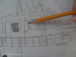 how draw boat shade