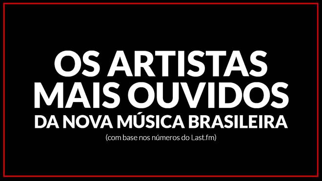 Os 25 artistas mais ouvidos da nova música brasileira