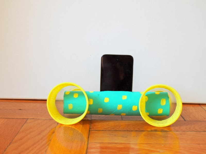 Easy to make Cardboard Roll ipod speakers