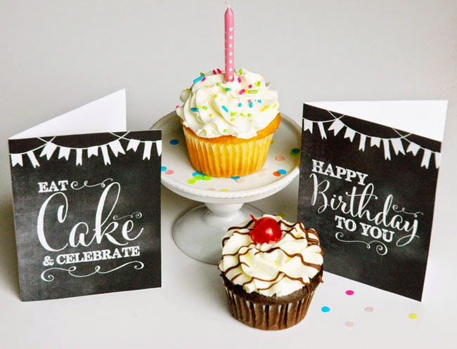 I Designed Two Different Cards Available For FREE Downloading And Printing Eat Cake Celebrate OR Happy Birthday To You