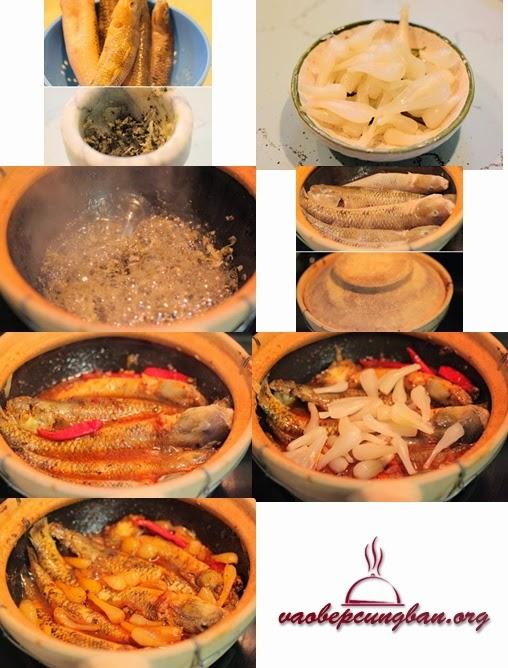 Cách làm cá Bống kho niêu củ kiệu, Ớt khô 1