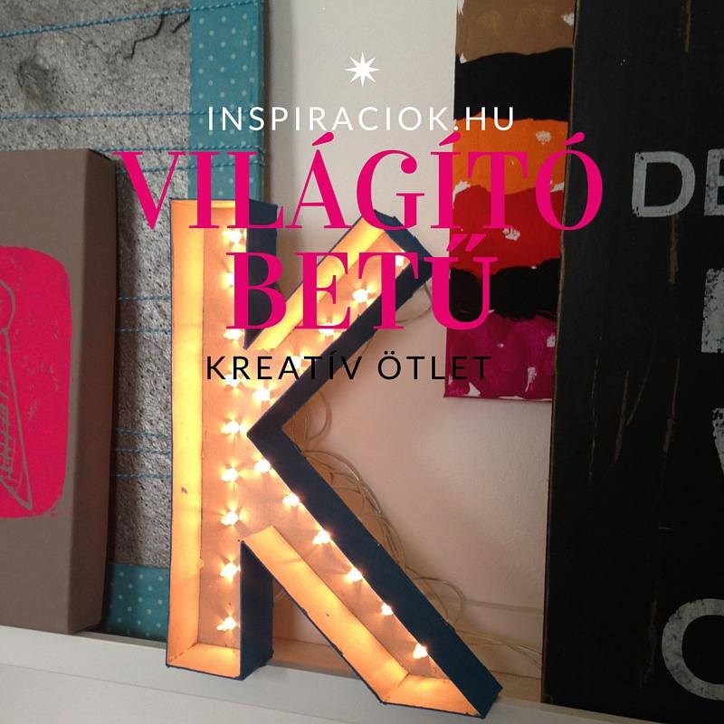 szobadekorációs ötlet világító betű
