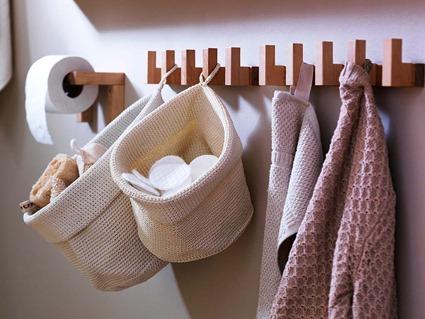 Cestas de almacenaje para baños pequeños