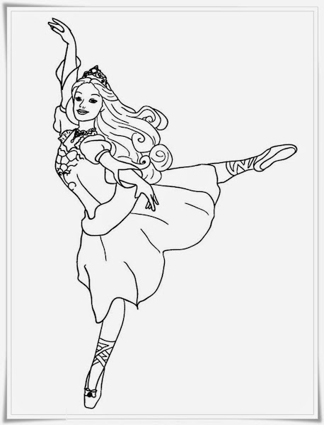 Dancing Barbie Coloring Pages