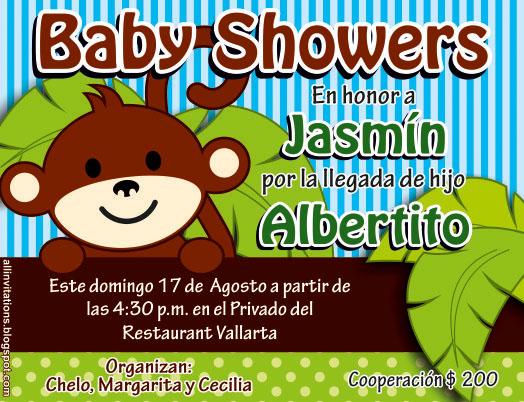 Invitación Baby Shower Changuito