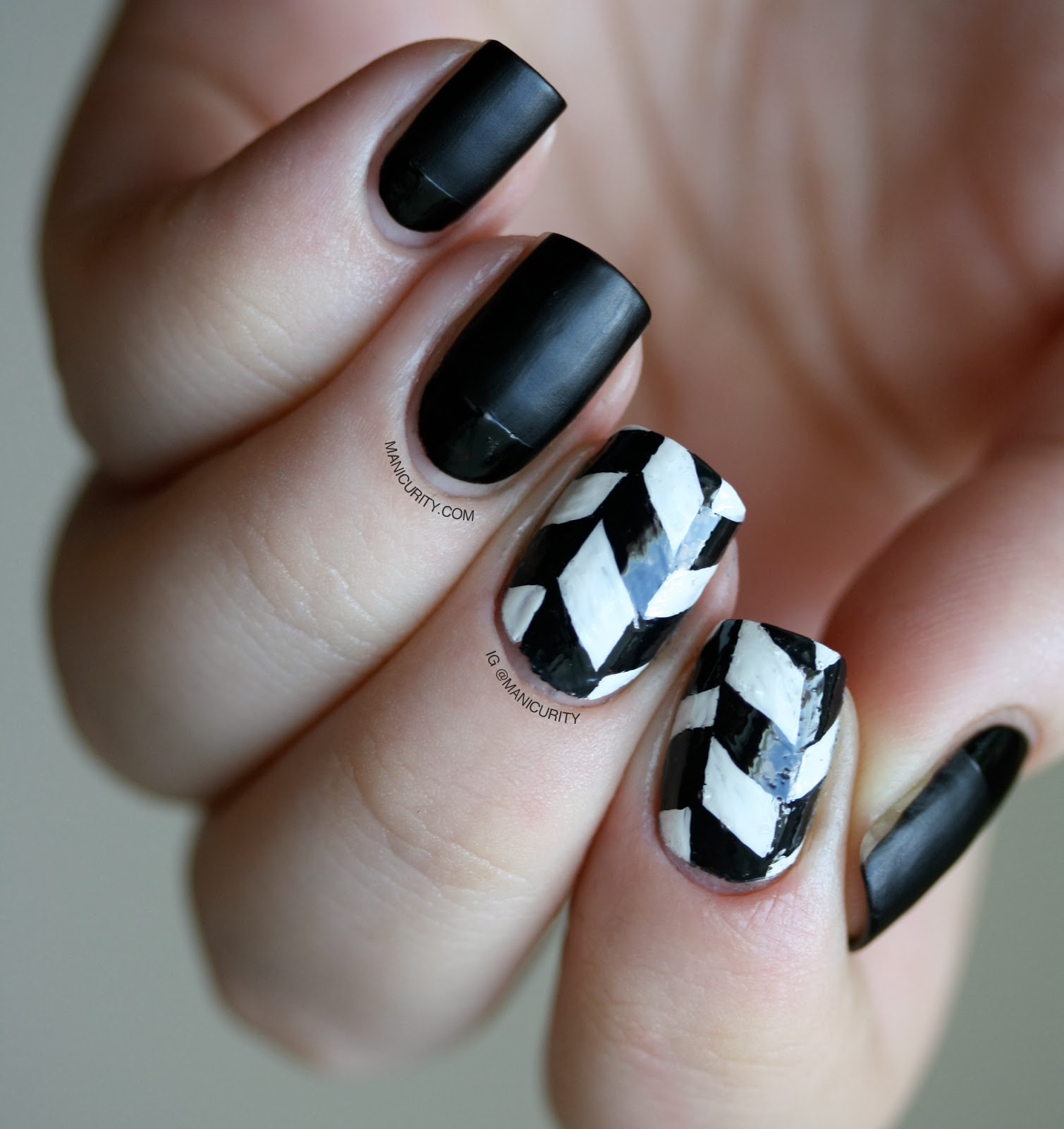 The Digit-al Dozen Does Black & White: Edgy Freehand Herringbone ...