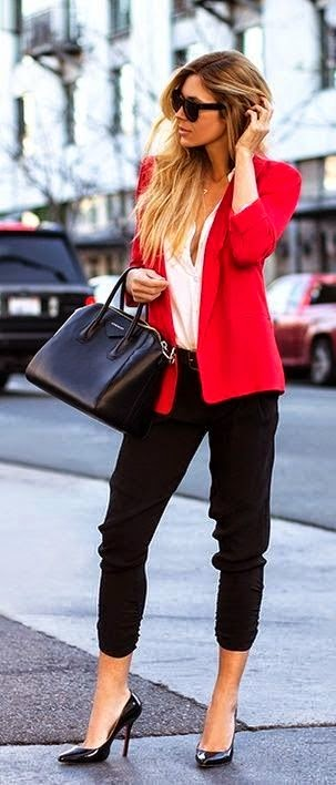 See more Summer trends red blazer