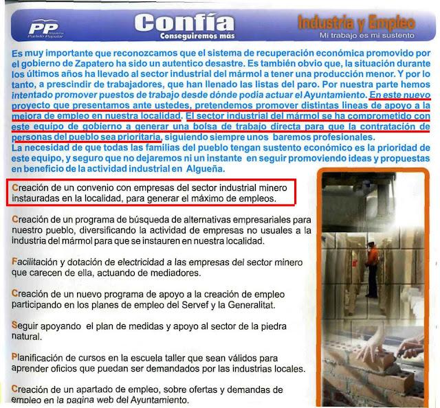 algueña alguenya programa electoral PP 2011