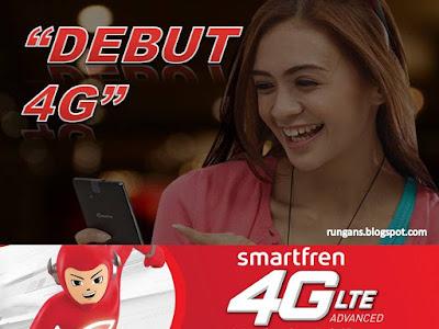 Debut Smartfren 4G LTE Advanced
