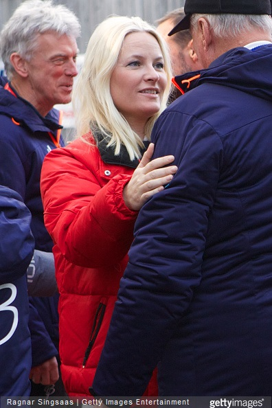 Crown Princess Mette-Marit of Norway attends the FIS Nordic World Cup