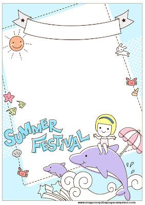 folios con dibujos de verano para imprimir