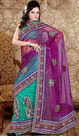 Lehenga-Saree-for-Wedding