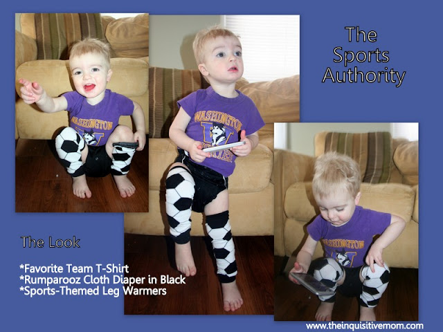 The Sports Authority - Combine Your Favorite Team Shirt, a Rumparooz, & Sports Themed Leg Warmers