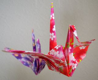 origami e tsurú para teto