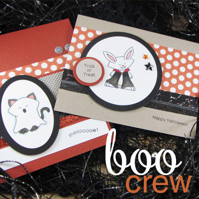 Halloween Cards - Boo Crew stamp set by Newton's Nook Designs