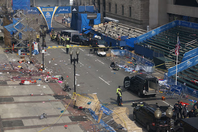 Scene of Boston bombing