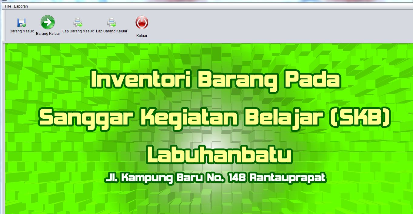 program aplikasi inventori persediaan java dan mysql