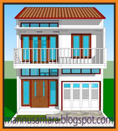 Rumah 2 Lantai di lahan 6 x 14 m