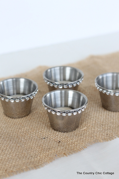 DIY Wedding Ideas -- Bling Candle Holders 3 Ways