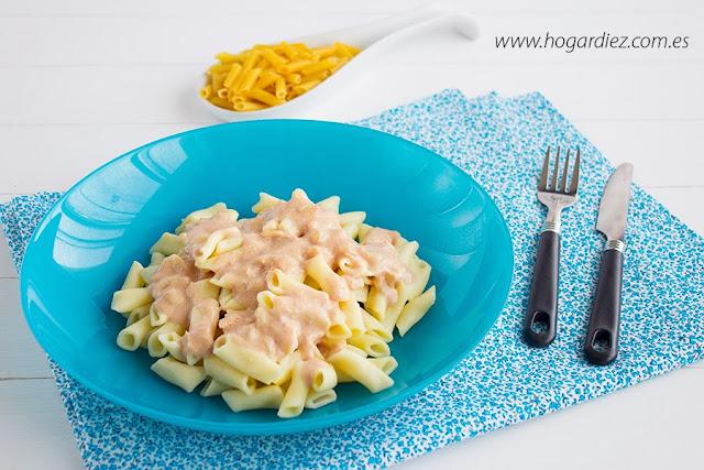 Macarrones con salsa de paté