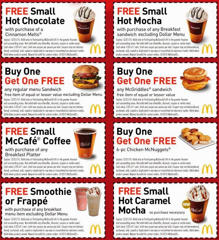 Mcdonalds coupons 2018 uk