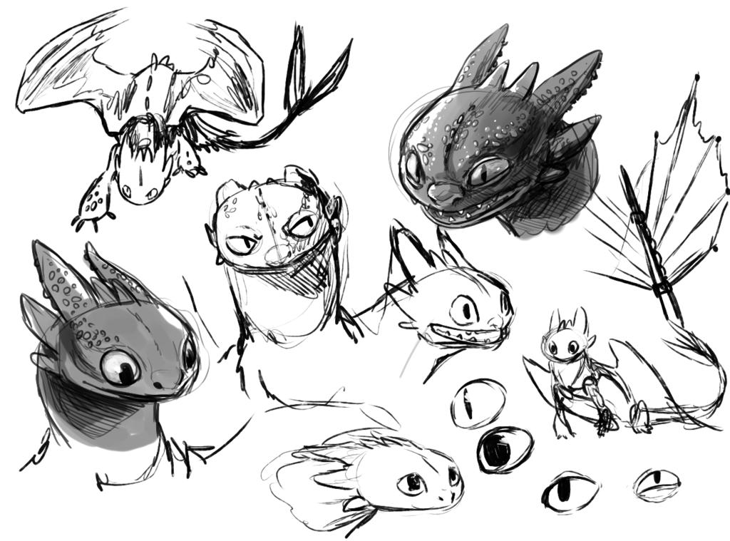 Te amamos, Chimuelo: Como dibujar a Chimuelo//Toothless