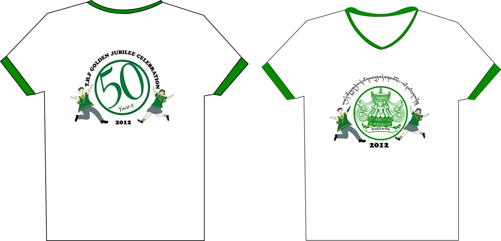 shirt design for tibetan homes school golden jubilee celebration
