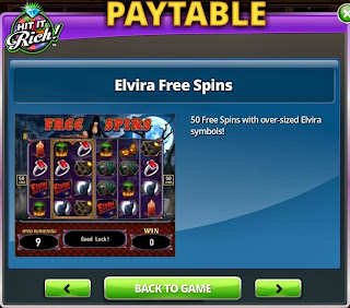 Fourth free spins screenshot at Elvira Slots