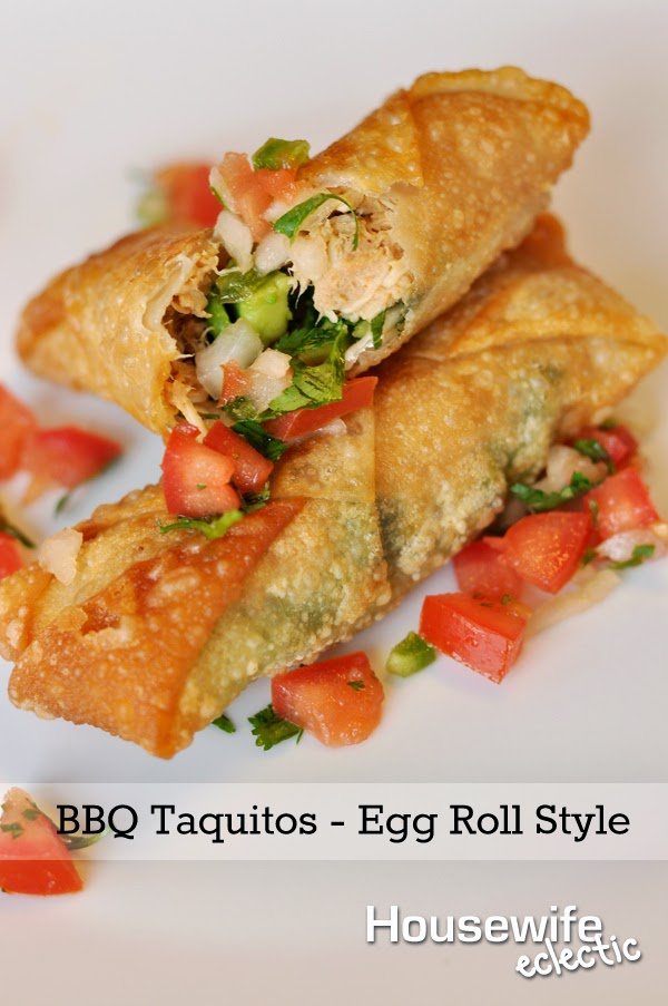 Housewife Eclectic: BBQ Taquitos - Egg Roll Style